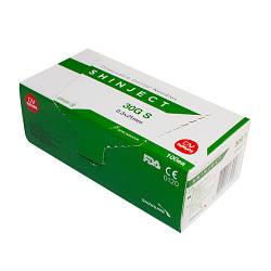 Голка карпульная стоматологічна SHINJECT 30G S (0.3х21мм), зелений, метричний тип (100 шт)