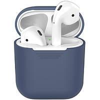 Силиконовый чехол-накладка Apple AirPods Темно-Синий