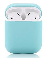 Силиконовый чехол-накладка Apple AirPods с карабином Бирюза