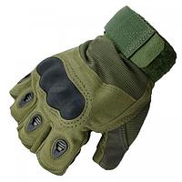 Перчатки без пальцев тактические Oakley (р.M), оливковые