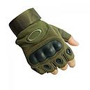 Перчатки без пальцев тактические Oakley (р.M), оливковые, фото 3