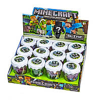 Slime лизун - Minecraft Анти стресс с Конструктором (12шт)