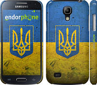 "Чехол на Samsung Galaxy S4 mini Флаг и герб Украины 2 ""378c-32"""
