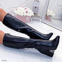 Короткие осенние сапоги на каблуке, фото 2