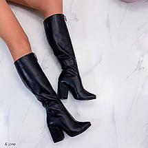 Короткие осенние сапоги на каблуке, фото 3
