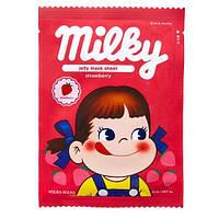 Тканевая маска для лица с клубничным экстрактом Holika Holika Peko Chan Pure Essence Jelly Mask Sheet Strawberry
