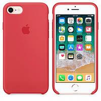 Чехол Apple Silicone Case для iPhone 7/8 Red Rapsberry