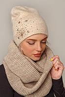 Шикарная женская шапка зимняя в 3х цветах Кира