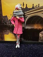 Набор одежды для Барби Игра с модой - Пальто, легинсы, шапка, шалик, фото 3