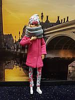Набор одежды для Барби Игра с модой - Пальто, легинсы, шапка, шалик, фото 4