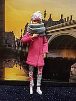 Набор одежды для Барби Игра с модой - Пальто, легинсы, шапка, шалик, фото 2