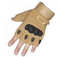 Перчатки без пальцев тактические Oakley (р.M), койот