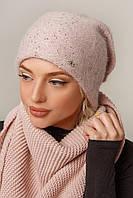 Шикарная женская шапка зимняя в 3х цветах Бант