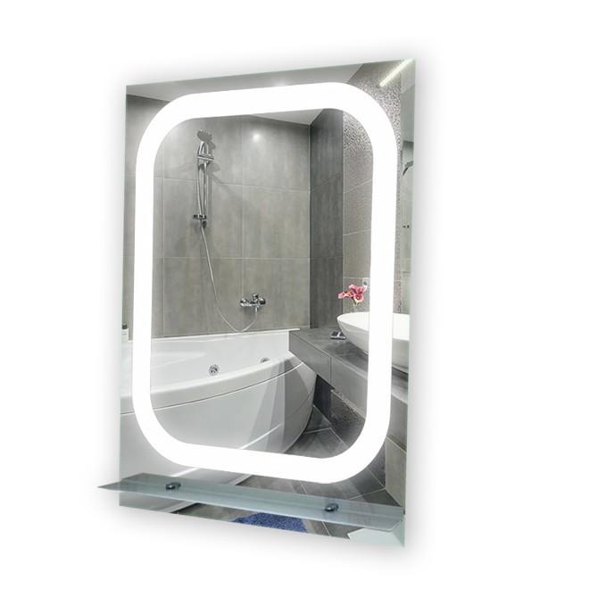 Зеркало LED (60*80*3см) PR-D28 с полкой