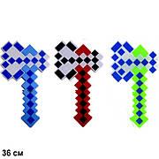 "Топор ""Minecraft"", батар., муз., свет, 3 цвета, в пак. 36*20см (168шт)"