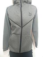 Мужской теплый спортивный костюм в стиле  Puma серый р. M, XL, фото 1