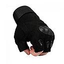 Рукавички без пальців тактичні Oakley (р. M), чорні, фото 2