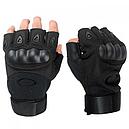 Рукавички без пальців тактичні Oakley (р. M), чорні, фото 4