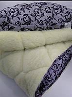 Одеяло меховое с овечьей шерсти евроразмер, 2,00х2,20 см . ОДА