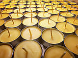 Свеча восковая чайная в гильзе из натурального пчелиного воска с ароматом меда и прополиса, фото 2