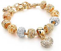 "Браслет женский Europian Charm ""Golden Heart"""