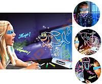 Магическая 3D доска для рисования Magic Drawing Board, 3D с очками (ММ320791)