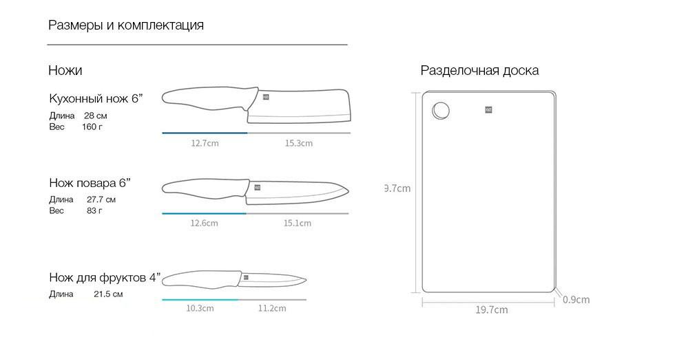 Набор ножей Xiaomi Huo Hou Hot Ceramic Knife + Chopping Board Set HU0020