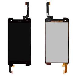 Дисплейный модуль (дисплей и сенсор) для HTC 901e Butterfly S, 901s Butterfly S, черный