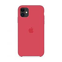 Чехол Apple Silicone Case iPhone 11 Red rapsberry