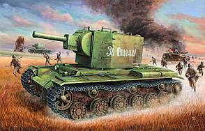 КВ-2 советский тяжелый танк. Сборная модель в масштабе 1/35. TRUMPETER 00312