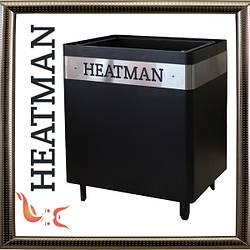 Электрическая каменка для сауны Heatman CubeBlack без блока управления 4 кВт / 220