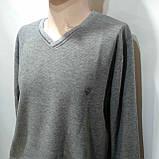 3хл р. Мужской батник весенний светло-серый из очень приятной ткани, фото 4