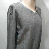 3хл р. Мужской батник весенний светло-серый из очень приятной ткани, фото 5
