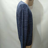 Чоловічий светр (Великий розмір) р. 5xl останній синій, фото 2