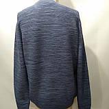 Чоловічий светр (Великий розмір) р. 5xl останній синій, фото 3