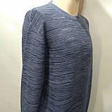 Чоловічий светр (Великий розмір) р. 5xl останній синій, фото 4