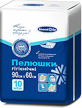Непромокаемые гигиенические пеленки (10 шт., 60/90 см), Белоснежка