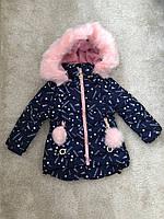 Модная тёплая Куртка для девочек  (сезон зима) на возраст от 1 до 5 лет (страна производитель Польша)