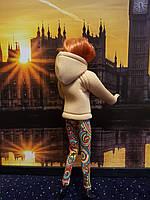 Набор одежды для Барби Игра с модой -  Куртка, легинсы с принтом орнамент, фото 4