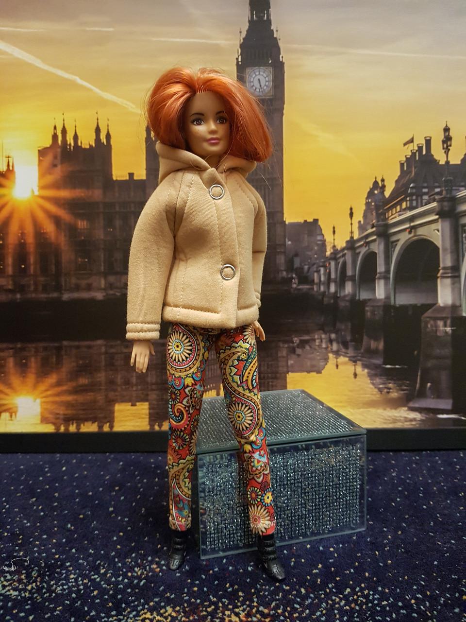 Набор одежды для Барби Игра с модой -  Куртка, легинсы с принтом орнамент