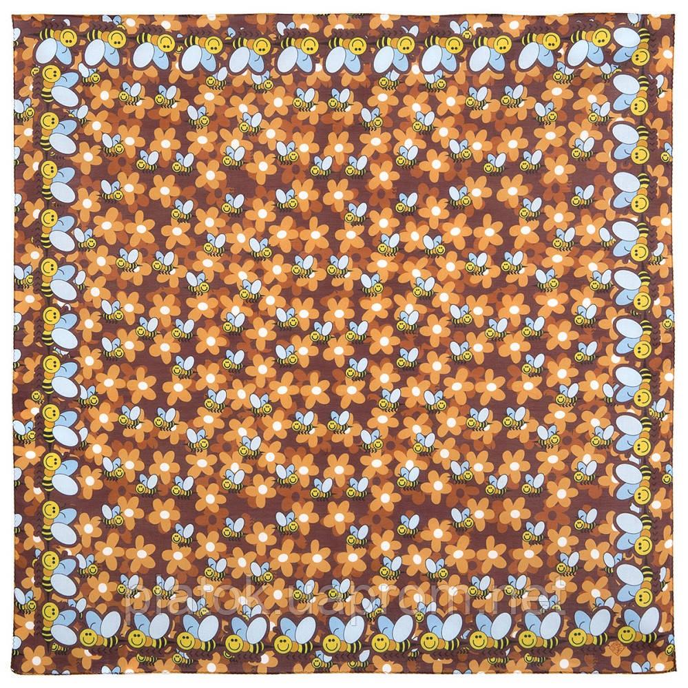 10783-16, павлопосадский хустку бавовняний (батистовый) з подрубкой