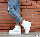 Женские зимние белые ботинки, из натуральной кожи 40 ПОСЛЕДНИЙ РАЗМЕР, фото 4