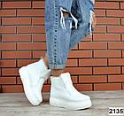 Женские зимние белые ботинки, из натуральной кожи 40 ПОСЛЕДНИЙ РАЗМЕР, фото 3