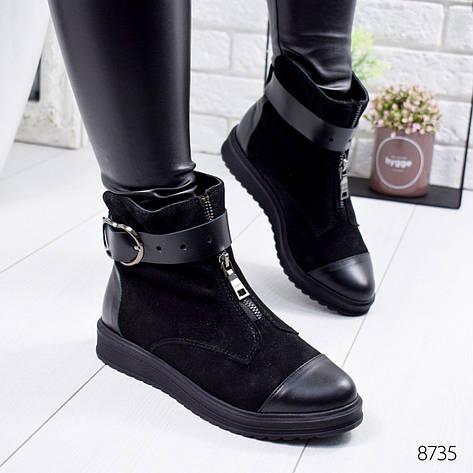 """Ботинки женские зимние """"Adeya"""" черного цвета из натуральной замши. Ботильоны женские. Ботильоны зима, фото 2"""