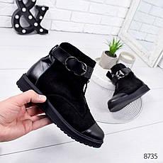 """Ботинки женские зимние """"Adeya"""" черного цвета из натуральной замши. Ботильоны женские. Ботильоны зима, фото 3"""