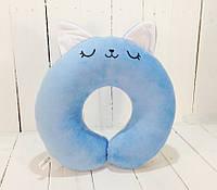 Подушка для путешествий Strekoza Котенок Айси 34 см голубой, фото 1