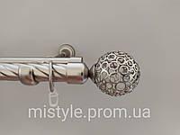 Карниз для штор Металлический 25/19мм. Сатин Савона