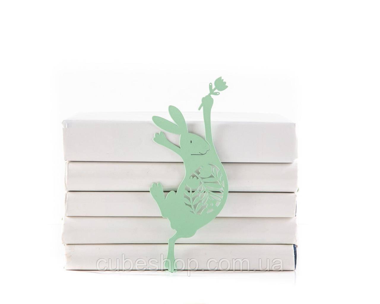 Закладка для книг Танцующий пасхальный заяц (мятный цвет)