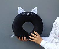 Подушка для путешествий Strekoza Котенок Айси 34см черный, фото 1