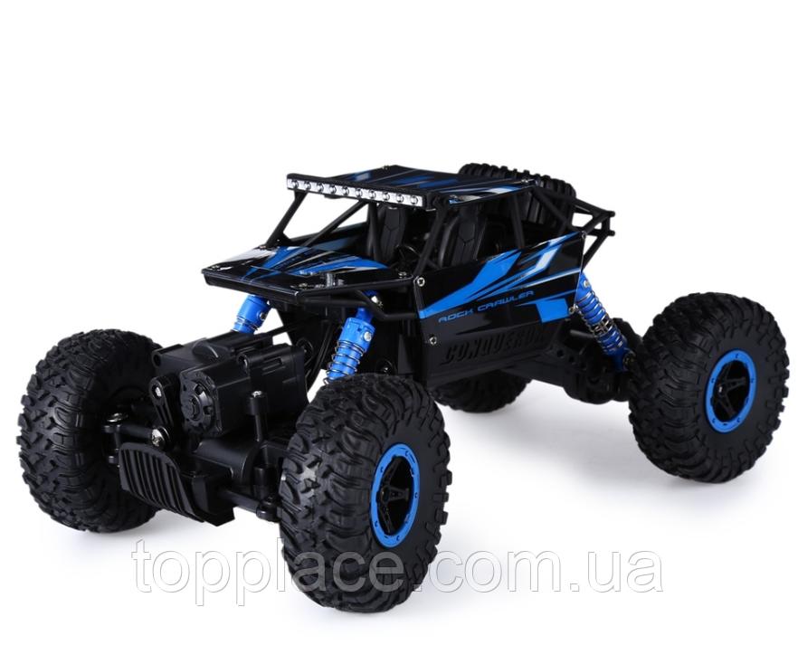 Радиоуправляемый краулер Rock Through 4WD 1:18 2.4G, Blue (HB-P1802)
